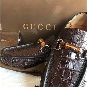 Gucci Men's Crocodile Loafers